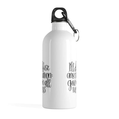 Leanne & Co. Water Bottle 14oz I'll Diffuse Any Situation Stainless Steel Water Bottle