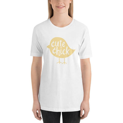 Leanne & Co. White / XS Cute Chick Yellow Chick Short-Sleeve Unisex T-Shirt