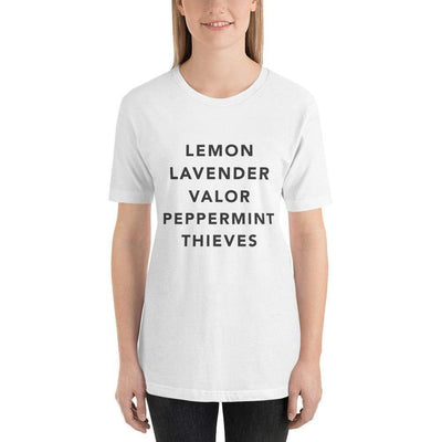Leanne & Co. White / XS Essential Oils Short-Sleeve Unisex T-Shirt