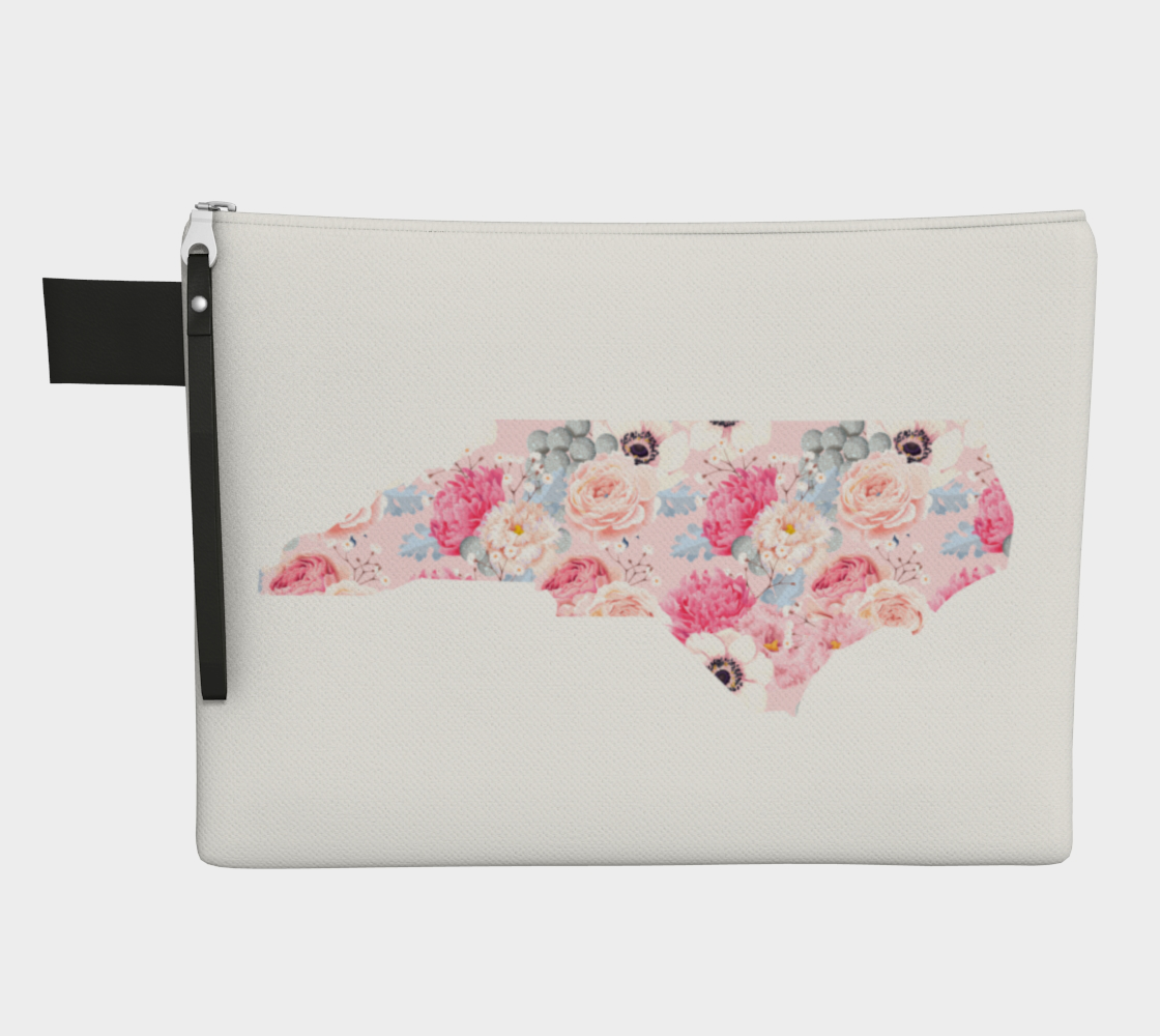 Leanne & Co. Zipper Carry-all North Carolina Peonies Zipper Carry-All