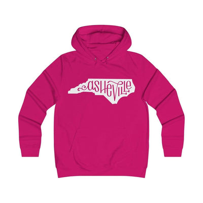 Printify Hoodie Hot Pink / XS Asheville, NC Classic Unisex Hoodie