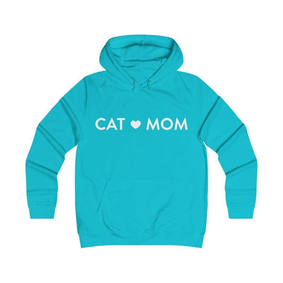 Printify Hoodie Turquoise Surf / XS Cat Mom Classic Unisex Hoodie