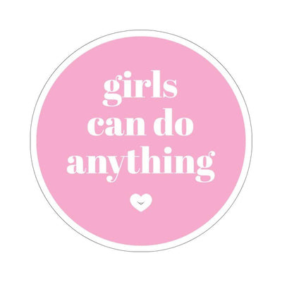 "Printify Paper products 4x4"" / White Girls Can Do Anything Kiss-Cut Stickers"