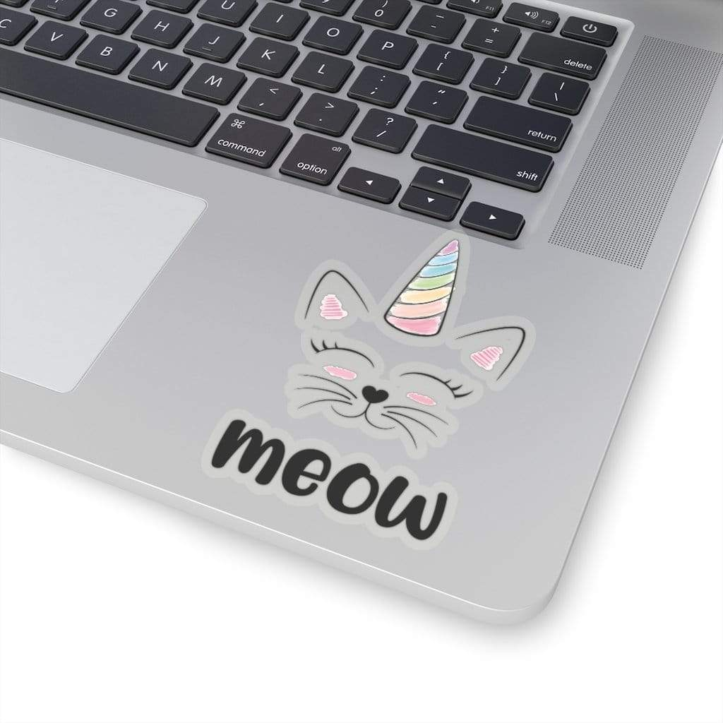 Printify Paper products Caticorn Kiss-Cut Stickers