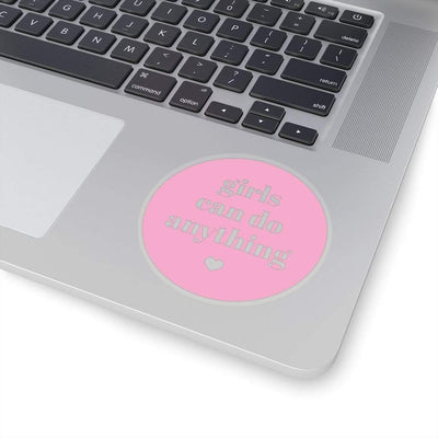 Printify Paper products Girls Can Do Anything Kiss-Cut Stickers