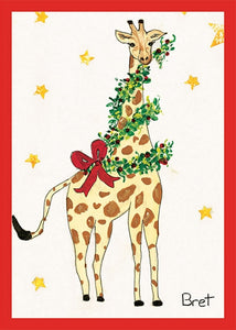 Holiday Giraffe by Bret