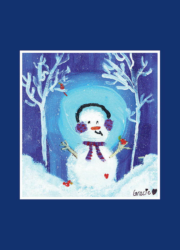 Snowman (by Gracie) Front