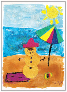 Summer Snowman (by Zoey)