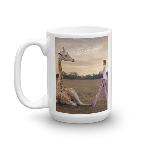 CHOC Children's Long Live Childhood Mug - Girl with Giraffe
