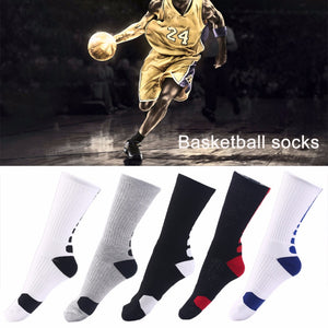 1 Pair Men Professional Basketball Socks Breathable, Athletic Sport Cycling Elastic Socks