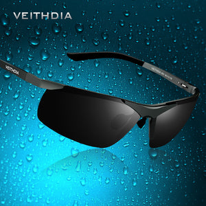VEITHDIA Brand Designer Alumunum Men's Polarized UV400 Mirror Sunglasses Rimless Rectangle Mens Sun Glasses Eyewear For Men 6501