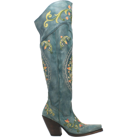 WOMEN'S FLOWER CHILD LEATHER BOOTS