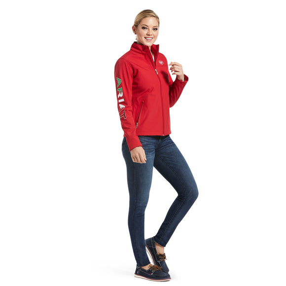 WOMEN'S Classic Team MEXICO Softshell Water Resistant Jacket