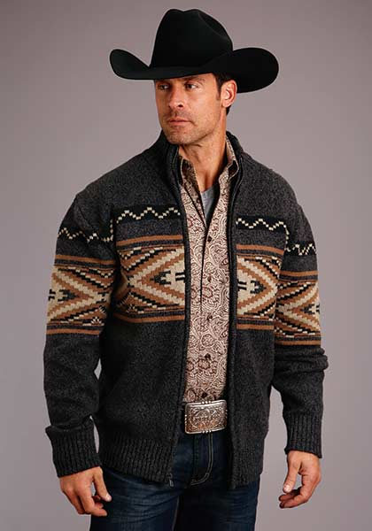 GRAY AZTEC CARDIGAN