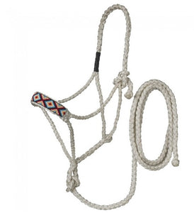 Beaded Mule Tape Halter with Lead