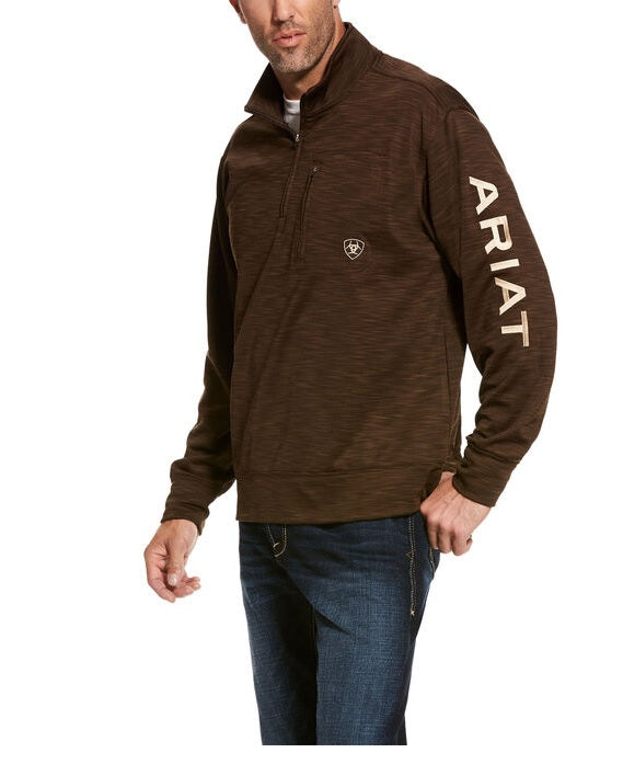ARIAT MEN'S SWEATSHIRT TEAM LOGO 1/4 TOP , HerraduraDeOro - HerraduraDeOro