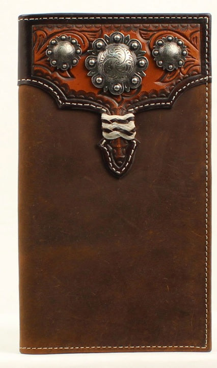 NOCONA TRADITIONAL LEATHER RODEO WALLET , HerraduraDeOro - HerraduraDeOro