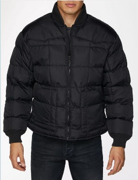 CHAMARRA RODERO NEGRA DE PLUMA DE GANZO. MENS' RODERO COLLECTION JACKET FILLED W/ DOWN , HerraduraDeOro - HerraduraDeOro