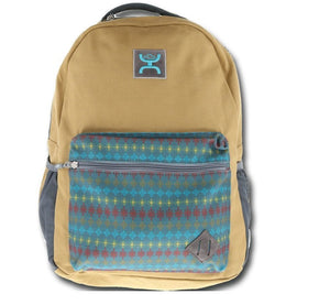 "HOOEY BACKPACK HOOEY TAN AND AZTEC PRINT "" RECESS"" , HerraduraDeOro - HerraduraDeOro"