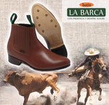 BOTINE CHARRO LA BARCA COLOR CHICLE . MENS BOTINES LA BARCA LIGHT TAN COLOR , HerraduraDeOro - HerraduraDeOro