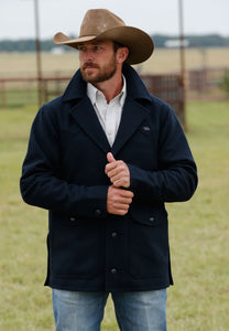 Men's Miller Ranch by Cinch Navy Wool Ranch Jacket
