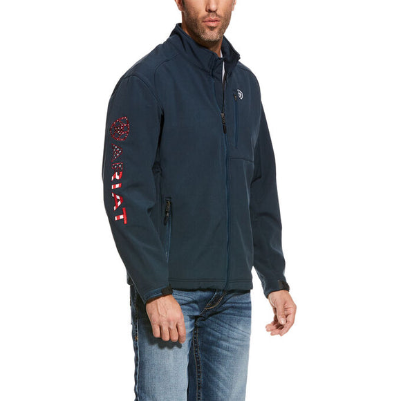 ARIAT NAVY BLUE MEN'S Logo 2.0 Softshell Jacket , HerraduraDeOro - HerraduraDeOro