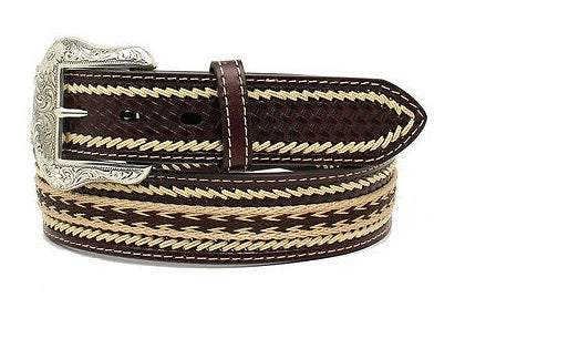 NOCONA BELT WITH LEATHER LACING , HerraduraDeOro - HerraduraDeOro
