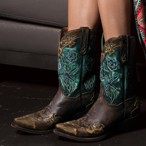 WOMEN'S DANPOST VINTAGE BLUEBIRD LEATHER BOOT , DAN POST - HerraduraDeOro