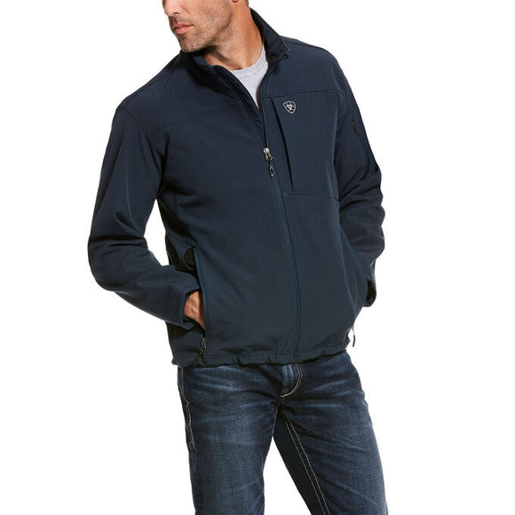 ARIAT MEN'S INDIGO HEATHER VERNON 2.0 SOFTSHELL JACKET. , HerraduraDeOro - HerraduraDeOro