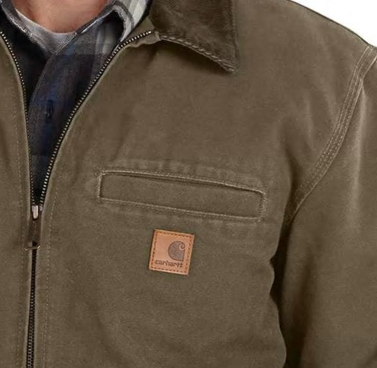 BANKSTON QUILTED FLANNEL-LINED BOMBER JACKET - BROWN , CARHARTT - HerraduraDeOro