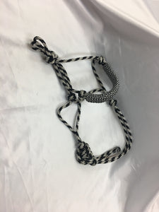 Black and White Rope Halters , HerraduraDeOro - HerraduraDeOro