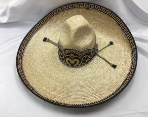 SOMBREROS DE CHARRO. Charro Hat made of Wheat Palm , HerraduraDeOro - HerraduraDeOro