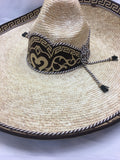 Charro Hat made of Wheat Palm , HerraduraDeOro - HerraduraDeOro