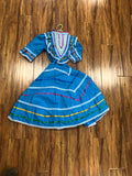 VESTIDO FLOKORICO DE NINA.  KIDS DRESS WITH SUPER WIDE SKIT FLOW FOLKLORICO DANCE , HerraduraDeOro - HerraduraDeOro