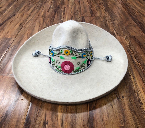 SOMBREROS DE CHARRO DE LANA NIÑOS COLOR HUESO. AUTHENTIC BONE COLOR CHARRO HAT FOR KIDS. , HerraduraDeOro - HerraduraDeOro
