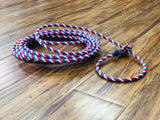 Soga Para Florear . 30FT. RED WHITE BLUE TRICK ROPING ROPE