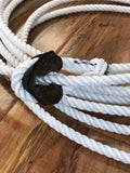 Soga Para Florear .45FT.  ALL WHITE TRICK ROPING ROPE.