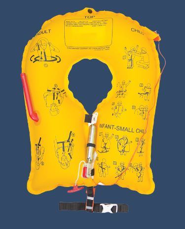 Single-Cell Life Vest: EAM AIC-35 Series - P/N P01400-XXX 5 years (Commercial)