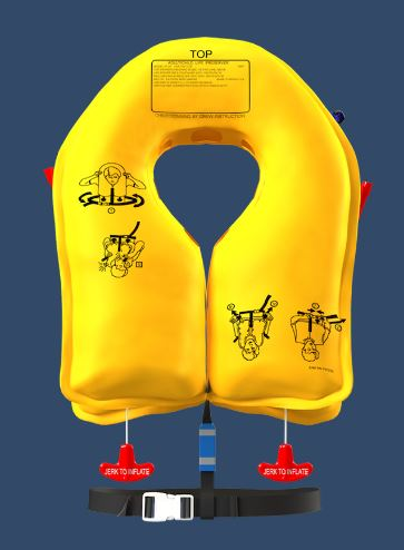 Twin-Cell Life Vest: EAM XF-35 Series - P/N P01074-101 5 years (Commercial, Military)