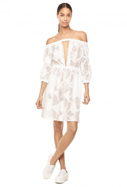 Milly Vivian White Dress Robe Blanche
