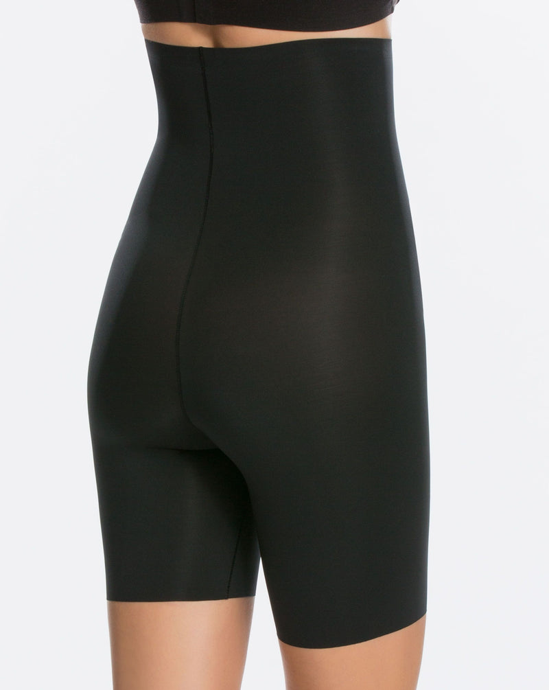 Spanx Black High Waisted Mid-Thigh Short Thinstincts