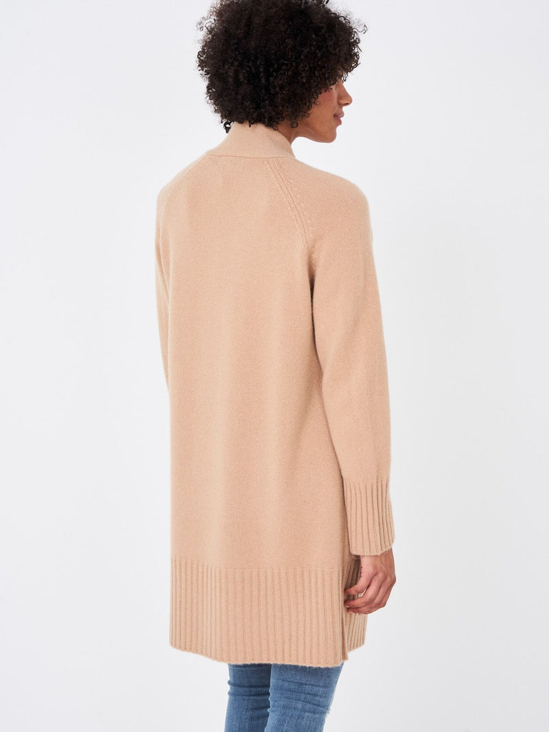 REPEAT Luxury Cashmere Cardigan Camel