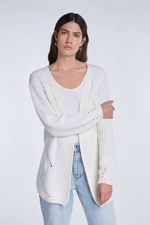 Tricot SET Knitted Cardigan in Cashmere Blend
