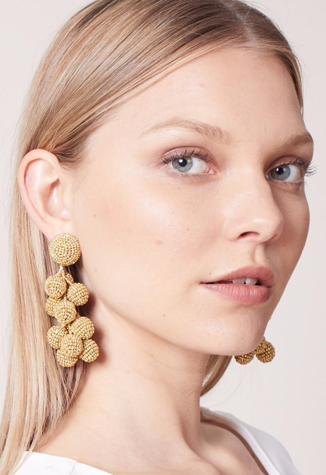 SACHIN & BABI Coconut Earrings Gold Pendants d'oreilles dorés