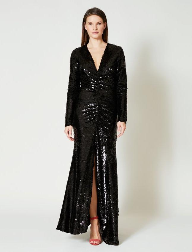 Robe de soirée à paillettes Sachin & Babi sequin evening dress