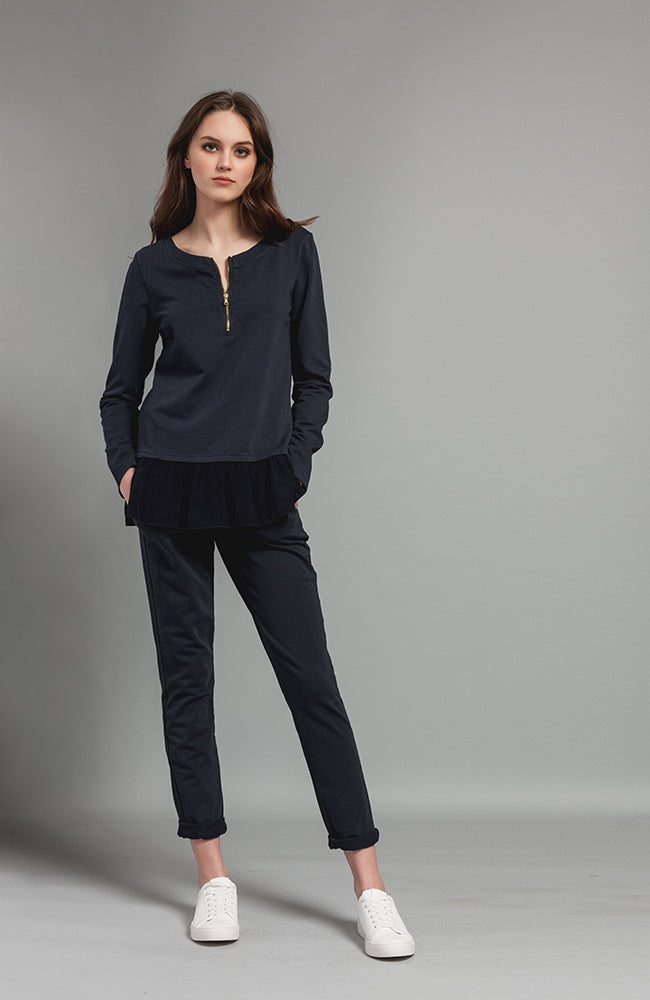 Tailored Jogging Pant with Drawstring Pantalon