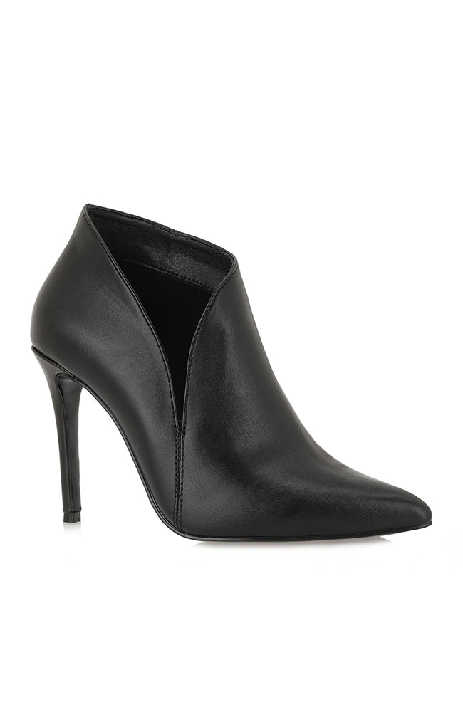 Jessica Faux-Leather Heeled Boot with Side Opening Boutillon