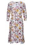 Princess Phantasy Flower V-neck Dress Robe Midi