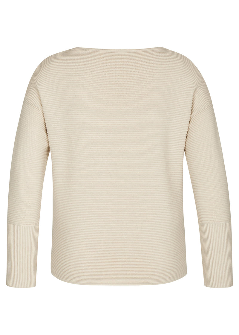 Le Comte Crew Neck Knitted Sweater with Front Pockets