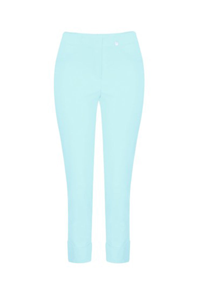 ROBELL Marie Stretch Cropped Pants Baby Blue